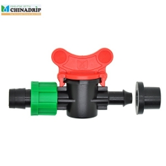 drip tape offtake valve from PVC pipe with grommet