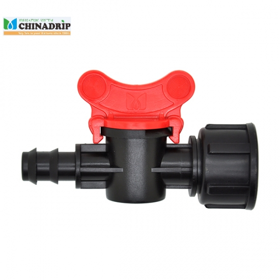 barb  with female thread mini valve connector for LDPE pipe